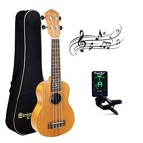 21 InchSoprano Ukulele,Strong Wind AAA Mahogany Body Hawaiian Uke Mini Guitar Professional Instrument Starter Kit with Gig Bag Tuner for - Locking Ltd Tuners