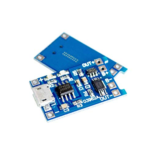 TD-ELECTRO 10PCS/LOT 5V Micro USB 1A 18650 Lithium Battery Charging Board with Protection Charger Module ()