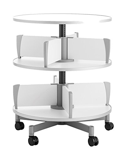Moll Deluxe Binder & File Carousel Shelving with Two Tier, Shown with Top Shelf (Sold Separately), White ()