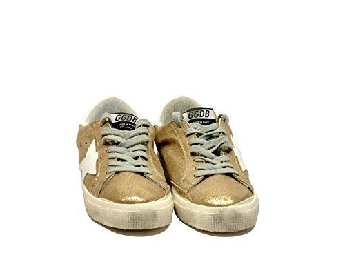 Golden Goose Sneakers May in Pelle Oro