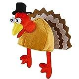 ZISUEX Turkey Hats Thanksgiving Mens Costume Dress Up Party Hats Halloween Holiday Plush Turkey Headwear