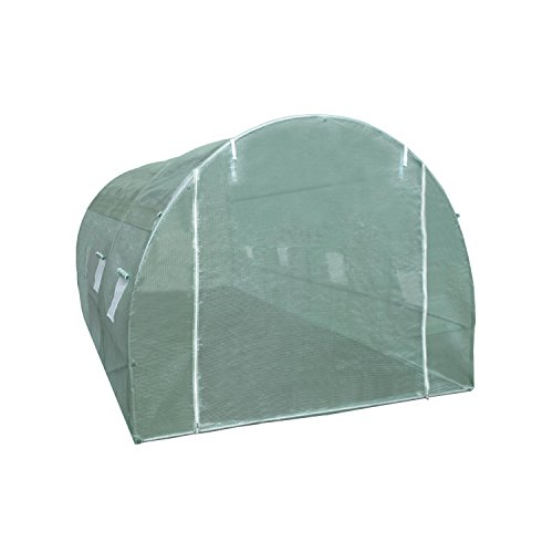 ALEKO GHT10X20X6 Spacious Waterproof Poly-Tunnel Walk In Plant Garden Outdoor Greenhouse Shed 9.5X19.5X6.5 Feet