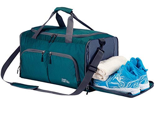 FANCYOUT Sports Gym Bag with Shoes Compartment & Wet Pocket, Travel Duffel Bag for Men and Women (Best Shoes For Gym Classes)