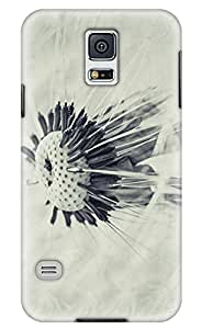 Online Designs Dandelion Black and White PC Hard new case for samsung galaxy s5 for girls by mcsharks