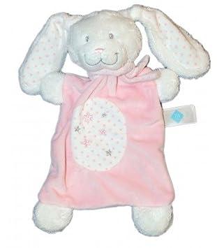 Peluche plano de conejo rosa y blanco, Estrellas, Tex Baby ...