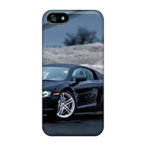 Fashion Tpu Case For Iphone 5/5s- Audi R8 Black Defender Case Cover