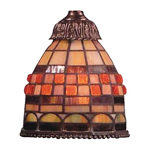 Jewelstone 1 Light (Alumbrada Collection Mix-N-Match 1 Light Jewelstone Tiffany Glass Shade)