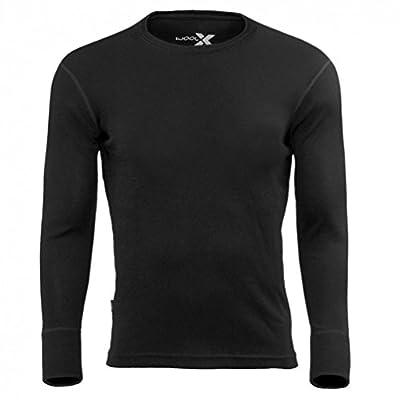 Woolx Men's Merino Wool Midweight Baselayer Top – 100% Merino Wool Crew - The Explorer