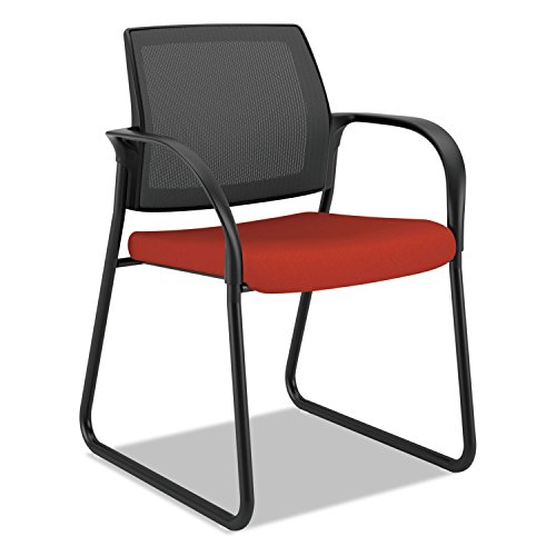 HON IB108CU42 Ignition Series Mesh Back Guest Chair with Sled Base,Poppy Fabric (Back Base Support)
