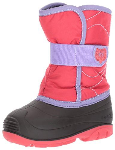 Kamik Girls' Snowbug3 Snow Boot, Dark Rose/Lilac, 10 Medium US Toddler (Kamik Waterproof Snow Boots)