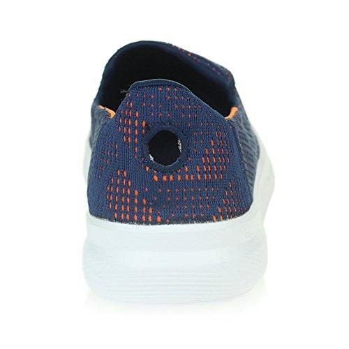 Memoria Ponerse Planas Corriendo Sencillo Mujer De Tamaño Caminar Ligero Señoras Marino Zapatos Espuma Confort Zapatillas Azul pPpzxIT8q