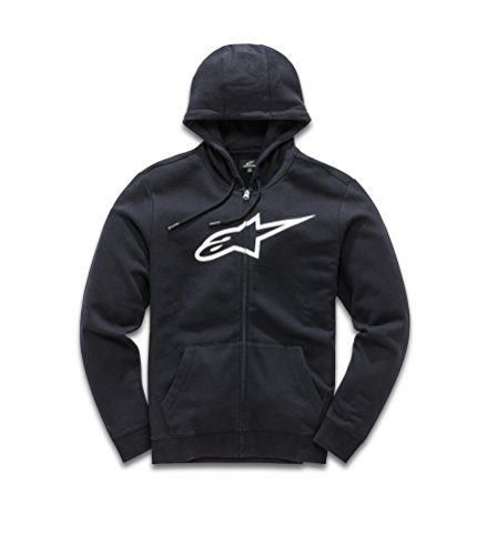 Ageless Zippé Ii Avec Fleece Pull blanc Homme Moderne Logo Imprimé Noir Alpinestars Coupe wdSIqw