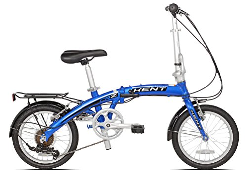 Kent Aluminm 7 Speed Folding Bike, 16 Inch