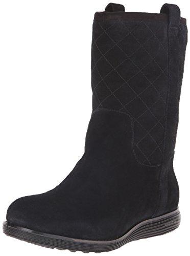 Cole Haan Women's Roper Grand Winter Boot, Black Suede, 10 B US