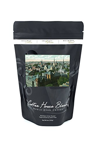 Sign City Worcester (Worcester, Massachusetts - Aerial View of the City from the State Mutual Building (8oz Whole Bean Small Batch Artisan Coffee - Bold & Strong Medium Dark Roast w/ Artwork))
