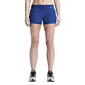 Nike Women's Dri-Fit 2-In-1 Rival Running Shorts-Royal Blue-Large