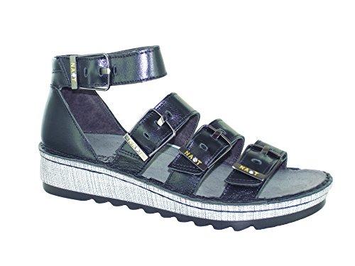 Begonia Sandals Ankle Strap Naot Women's Madras Black Tq86P