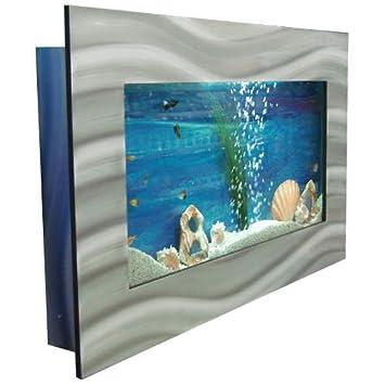 bayshore aquarium b1lslvr large rectangular wall aquarium silver