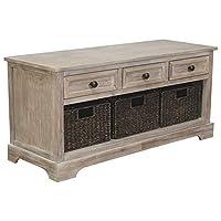 Ashley Furniture Signature Design Oslember Storage Bench, Light Brown