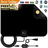 Vansky VS-TX04 Digital Amplified HD TV Antenna 65-80 Mile VHF/UHF Freeview TV Local Channels Support 4K 1080p & All Older TVs, 50-80Mile, Black