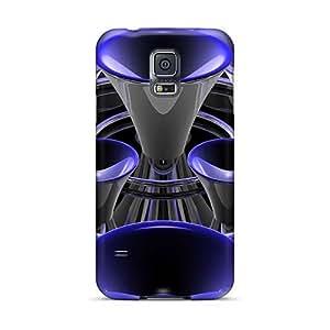 Bumper Hard Phone Covers For Samsung Galaxy S5 (QEK1570MSFj) Custom Lifelike 3d Trumpets Pictures