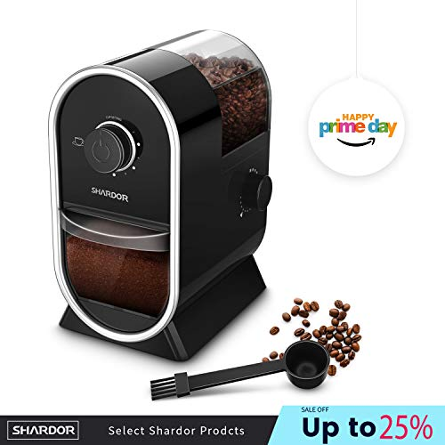 SHARDOR Electric Burr Coffee Grinder Mill with 12 Adjustable Grinding,Coffee Grinders with 12 Cups,Black