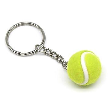 Lixada Mini Llavero de Forma de Pelota de Tenis, Llavero ...
