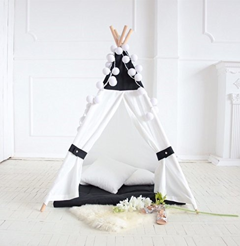 new style 916cd 02c89 Amazon.com: Black and white teepee with case and poles ...