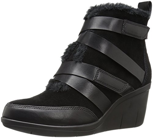 Wedge Snow Boots - Aerosoles Women's Interview Boot, Black Suede, 8 M US
