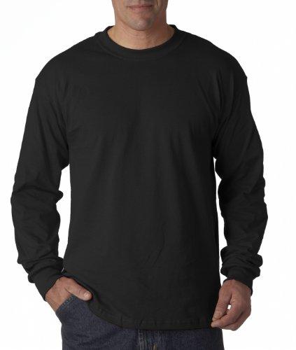Gildan Mens 5.3 oz. Heavy Cotton Long-Sleeve T-Shirt G540 -BLACK M - Heavy Cotton Unisex T-shirts