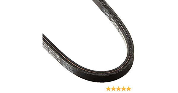 Rubber 0.344 Thickness 38 Length Carlisle 5L380R Durapower II Raw Edge FHP Light Duty V-Belt 5L Section 0.625 Top Width