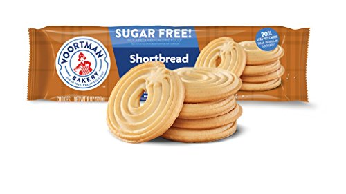 Voortman Bakery Sugar Free Cookies, Delicious Sugar Free Cookie, Pack of 4 (Sugar Free Shortbread Swirl)