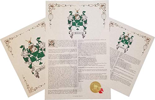 3 Arm Tulip - Tulip Coat of Arms, Family Crest & History 3 Print Combo - Name Meaning Plus Genealogy, Family Tree Research - Surname Origin: England/English