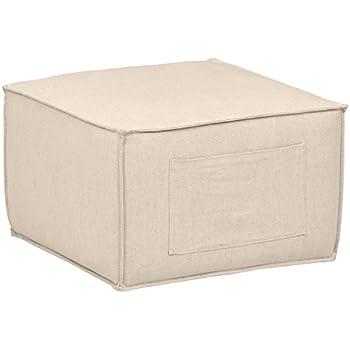 Amazon Com Rivet Adrian Side Storage Pocket Cube Ottoman