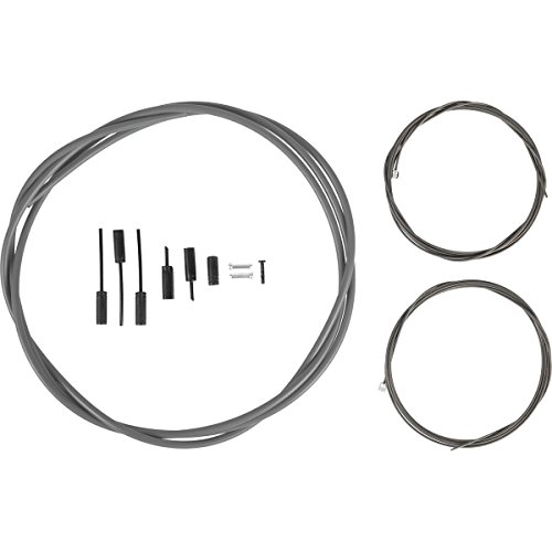 (SHIMANO Dura-Ace R9100 OT-SP41 Polymer-Coated Derailleur Cable Set Grey, One)