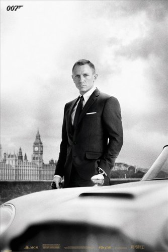 James Bond Db5 Skyfall Maxi Poster