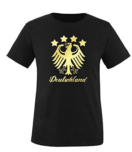 Luckja EM 2016 Deutschland Fanshirt Gold Edition M 01 Herren Rundhals T-Shirt