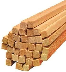 Varillas cuadradas de algodón de azúcar (madera, 4 mm de diámetro ...