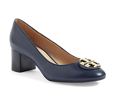 Calf Leather Pump Shoes (Tory Burch Janey 50mm Pump Calf Leather (9, Bright Navy))