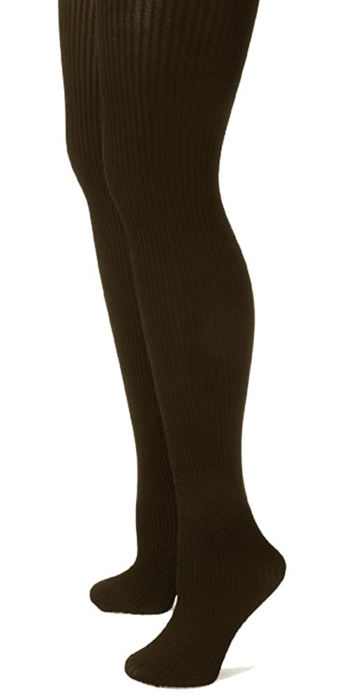 Savannah Ladies Fleece Lined Ribbed Footed Tights