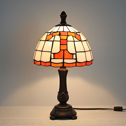 (9-inch NCAA Tennessee Volunteers Stained Glass Table Lamp)