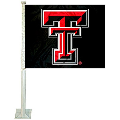 College Flags and Banners Co. Texas Tech Red Raiders Black Car Flag