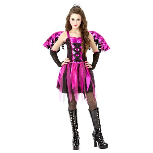 Amscan Girls Feisty Fairy Costume - Medium (8-10) Black