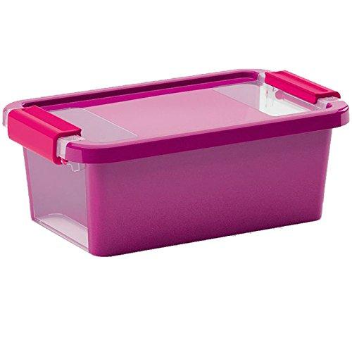 26 5X16X10cm SIK Aufbewahrungsbox Bi Box 3 Liter in violett-transparent Plastik