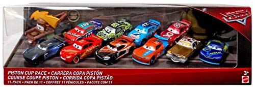 Disney Cars Piston Cup Race 11 Cars 1:55 Scale McQueen,Tex , Tim Treadless, Dirkson D'agostino, Jackson,Ryan Inside Laney, Jimmy Cables, Todd Marcus, J.D McPillar Cal Weathers, Lightning Bolt ()