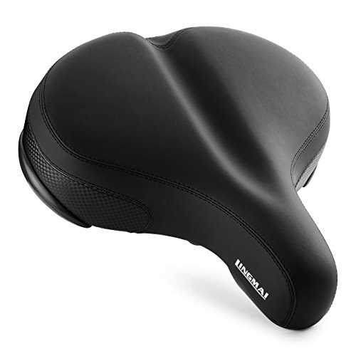 """LINGMAI 11.6"""" x 11""""Comfortable Oversize Bike Seat Cover -Super Large Wide Bicycle Saddle With Soft Cushion Improves Comfort for Mountain Bike, Road Bicycle, Hibrid and Stationary Exercis (Oversize-02)"""