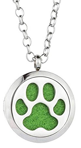 Essential Oil Diffuser Necklace - Dog Paw