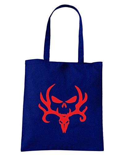 T-Shirtshock - Bolsa para la compra FUN0837 bone collector deer skull diecut decal 66 65662 Azul Marino