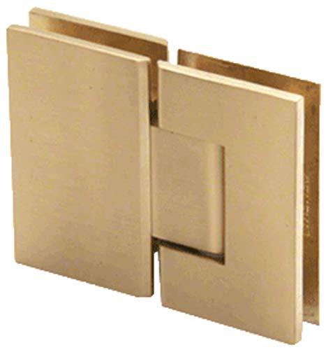 CRL Geneva 180 Series Satin Brass 180º Glass-To-Glass Standard Hinge
