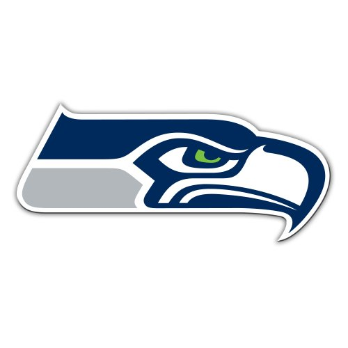 NFL Seattle Seahawks Logo Vinyl Magnet, 12-Inch